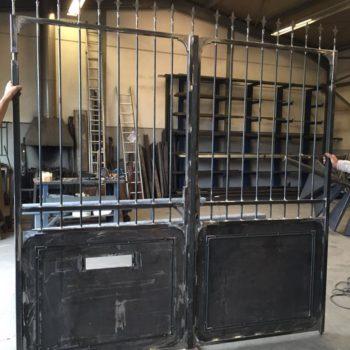 Anfertigung eines Einfahrtstor in der Werkstatt